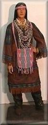 Indianer Frau,40x60x170cm