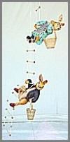 Hase auf Leiter,43x153x38