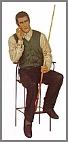 Billiard Mann,sitz.68x61x175cm