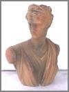 Büste, Lady in Sandst, 55x33x64cm