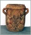 Athen Vase, 73x73x93cm,hell