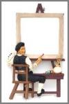 Maler,Spiegel Rahmen,56x13x86