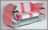 Cadillac Sofa,Pink,195x112x115cm