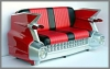 Cadillac Sofa,rot,195x112x115cm