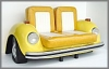 Beetle Sofa,119x199x108cm