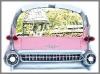 Cadillac Spiegel, 108x77x21cm