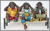 Affen auf Bank,41x92x55cm