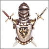 17 th Jahrhundert Ritter Wanddecor