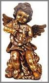 Engel steh.Harfe,26x37x56 gold Blätter