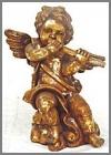 Engel steh.Flöte,27x41x54 gold Blätter