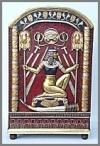 Egypt Schrank Frau, 92x60x148cm