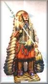 Indianer m.Speer,70x118x200cm