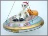 Allien -Santa in UFO,47x47x32