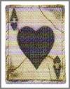 Platte,Ace Heart,20x26cm