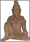Ankor sitz.Statue,53x43x75cm