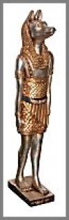Anubis41cm, silber-gold