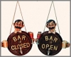 Bar offen Tafel 30 cm