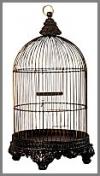 Vogelkäfig,r,bronce36x62cm