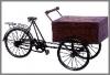 Cigar Box auf Rad,27,64cm h.