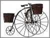 Fahrrad m.2 Körben,49,53cm h