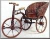 Fahrrad m.rundem Korb, 83,19cm h