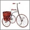 Fahrrad m.rundem Korb, 61,6cm h