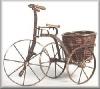 Fahrrad m.rundem Korb, 36,2cm h