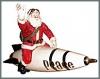 Friedenssanta auf Rakete, 47cm