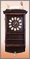 Wand Uhr,Farmer,83cm