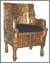 Arm Stuhl,  Egypt, gold 103 cm