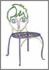Metallstuhl Junge 33 cm