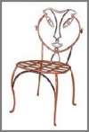 Metallstuhl Lady 46 cm
