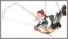 Angler auf Fisch, 59x22x38cm