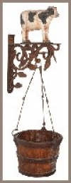 Country Kuh,m.Pot,40cm
