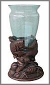 Fisch Vase, 37x37x65cm