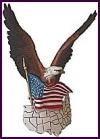 Adler mit Fahne