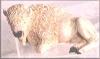 Büffel, weiß,12x7cm