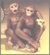 Affen Freunde,11,5x11cm