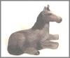 Pferd mini grau,5cm