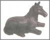 Pferd mini schwarz,5cm