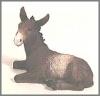 Esel braun,13x11cm