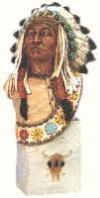 Sitting Bull Büste,25cm