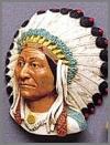 Sitting Bull,Bild,19,5cm