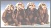 Die 4 weisen Affen,18x8,5cm