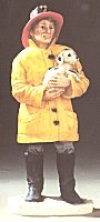 Feurwerhrmann mit Hund 7x18,5 cm