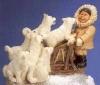 Eskimo mit Husky