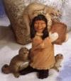 Eskimo mit Otter