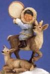 Eskimo mit Rentier