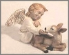 Engel mit Reh,16x9cm