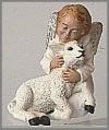 Engel mit Lamm,10x12cm